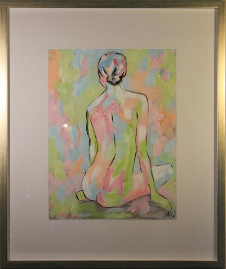 """Nude CXXIV"" - $700 - 21"" x 25"""