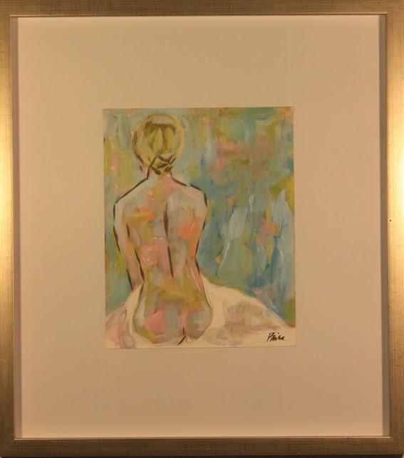 """Nude CXLIV"" - $380 - 17"" x 19"""