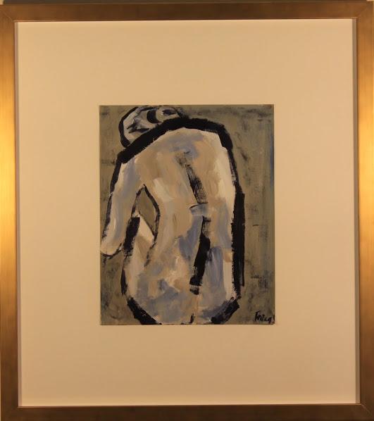 """Nude CLVIII"" - $380 - 17"" x 19.5"""