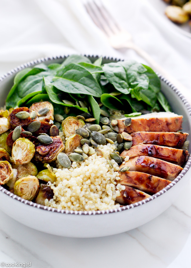http://cookinglsl.com/balsamic-brussels-sprouts-and-chicken-quinoa-bowls/