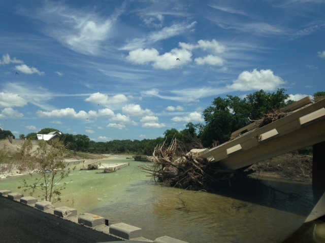 Blanco River Bridge Washout