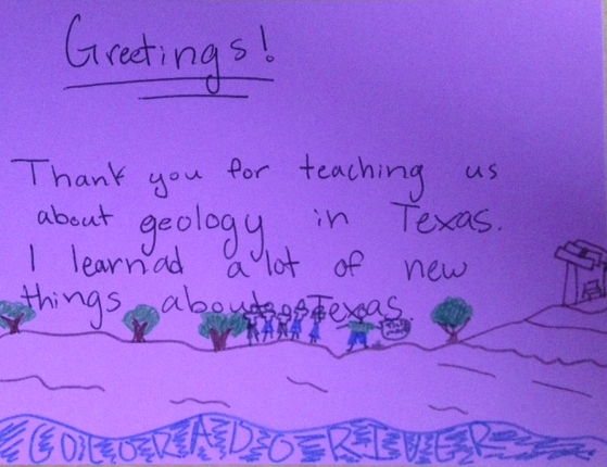 Thank you letter from student after the trip.