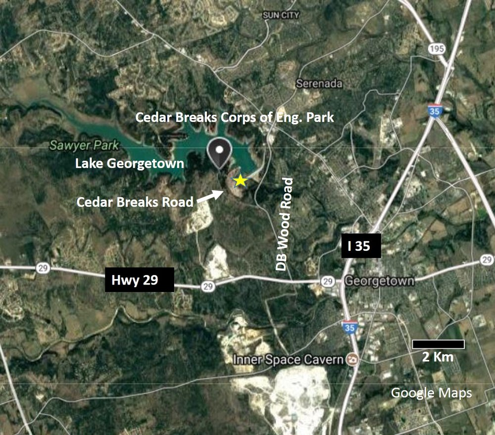 SATELLITEMAPGEORGETOWNjpg Past Fieldtrips u2014 AUSTIN GEOLOGICAL SOCIETY