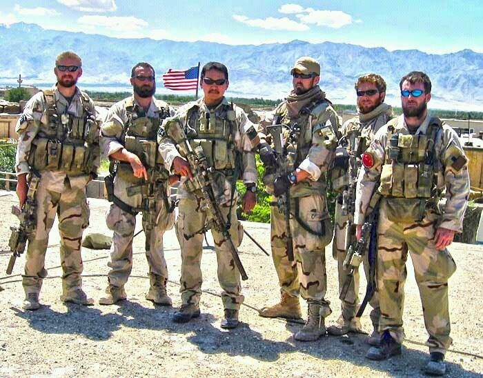 Lt. Mike Murphy (far right) with his team in Afghanistan.