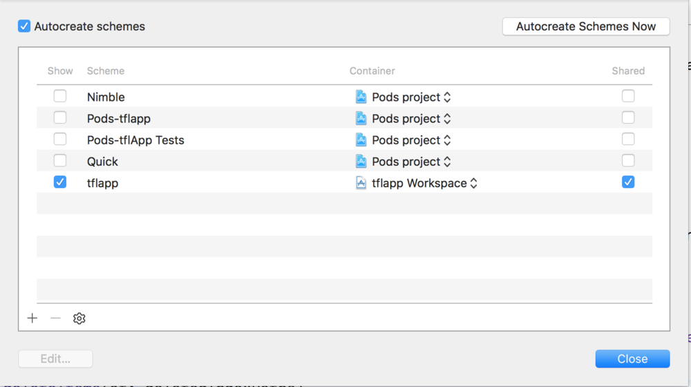 Picture 1 : Shared Workspace settings to use for Travis