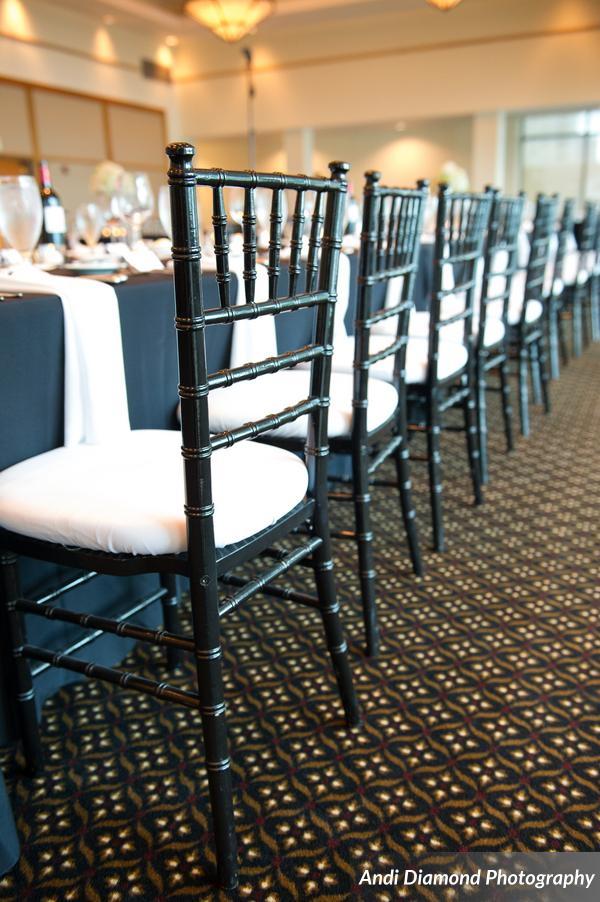 Black Chiavari & White Cushion
