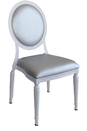 """Pop Louis"" Chairs (white with white cushions)"
