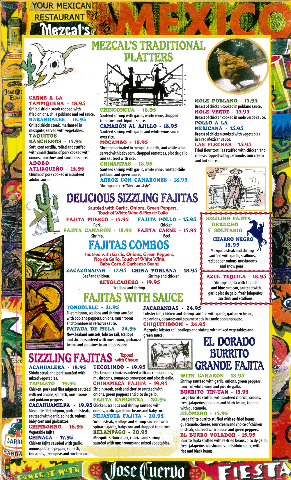 Mezcals Brooklyn Mexican Menu