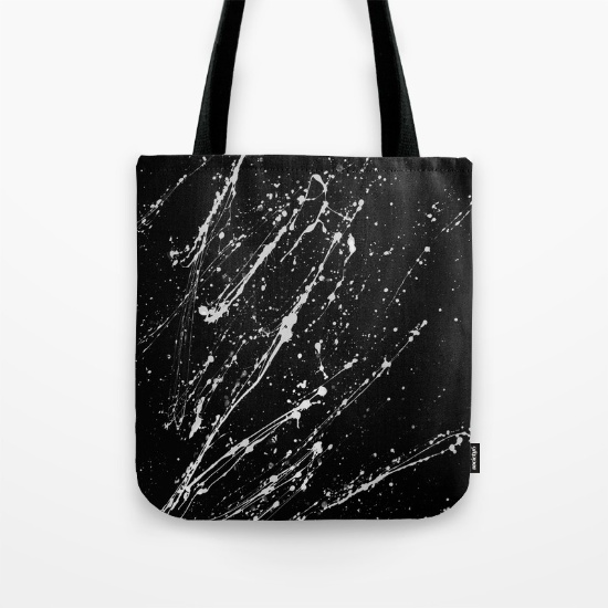 Black Shell Tote Bag