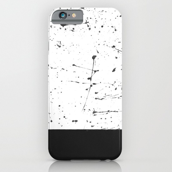 Black Splatter iPhone Case