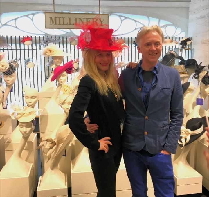 On hand at the brand new Millinery Department of Harrods a95e1f245c1