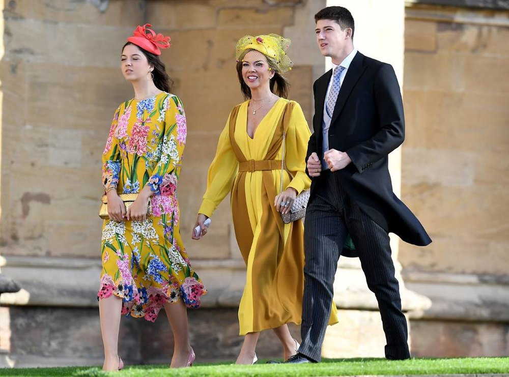 Heather Kerzner looking stunning in Victoria Grant Bespoke hat and Emilia Wickstead dress.
