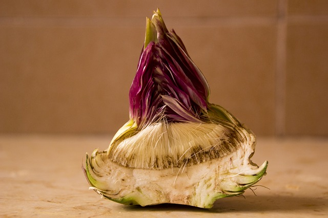 Fresh Artichoke Heart before being trimmed