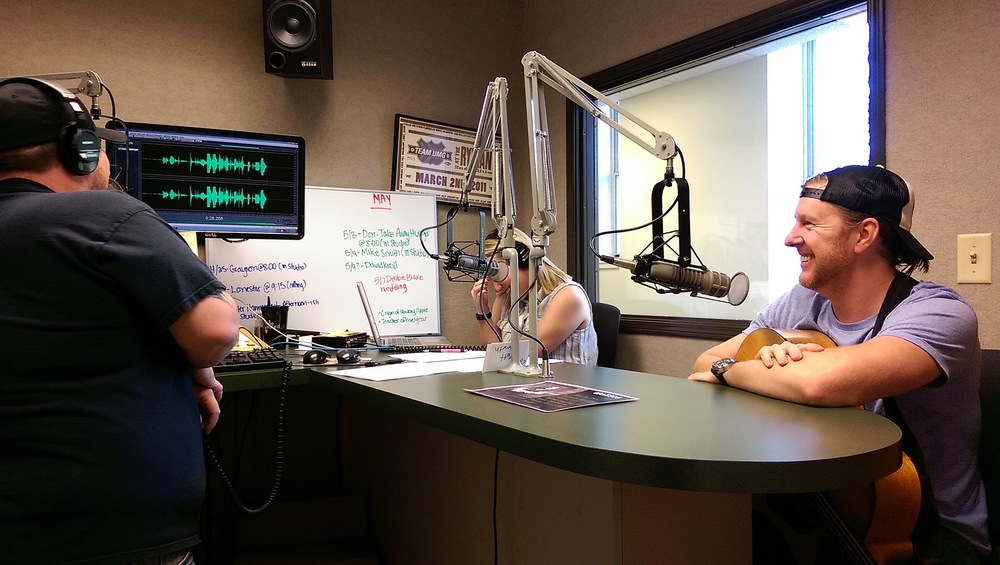 On air with Tory & Drew at The Bull - Burlington, Iowa