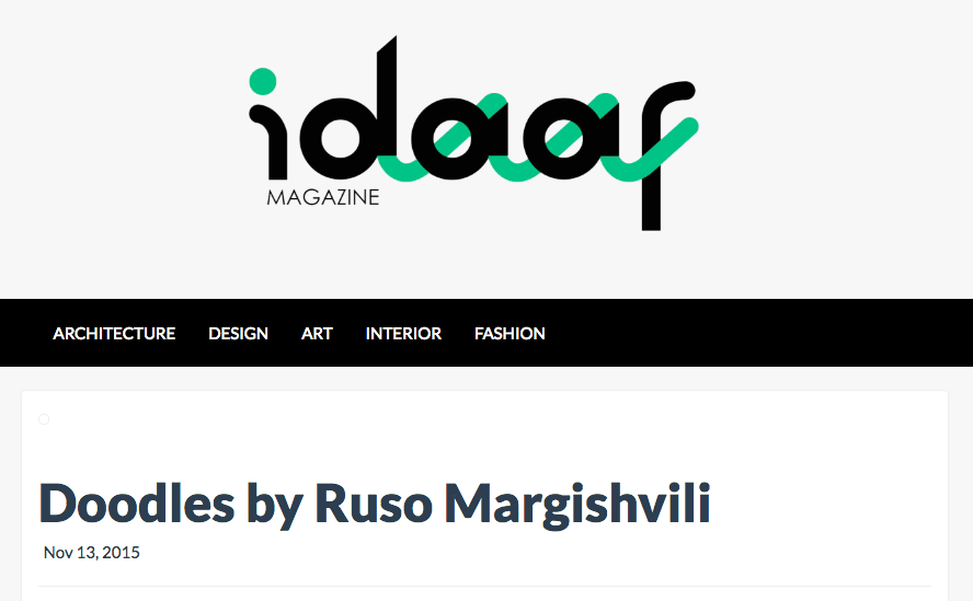 Idaaf Magazine featured my drawings under their Art section. Special thanks to lovely Dodochi Gogia / 2016