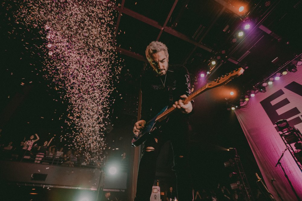 The shot Reed captured of   Jack Barakat   of   All Time Low   from the photo above!