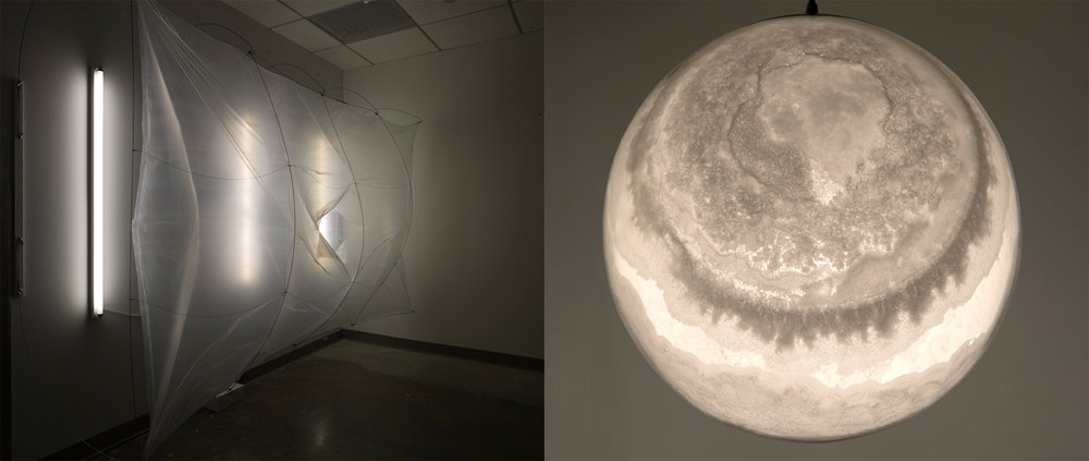 Left: Joseph Morris,  Immanence , 2013-16. Right: William Lamson,  An Invisible Universe , 2017