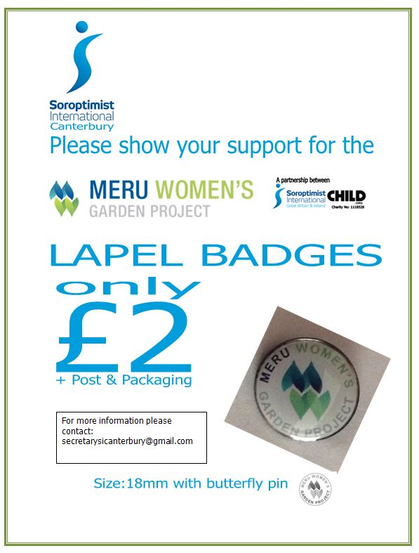 Meru pin badges on sale now — Meru Women's Garden Project
