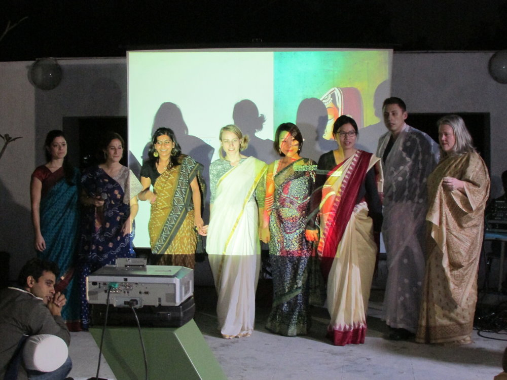 Pecha Kucha sari presentation. Photo courtesy of client.