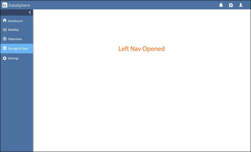 High-fidelity Navigation Screen