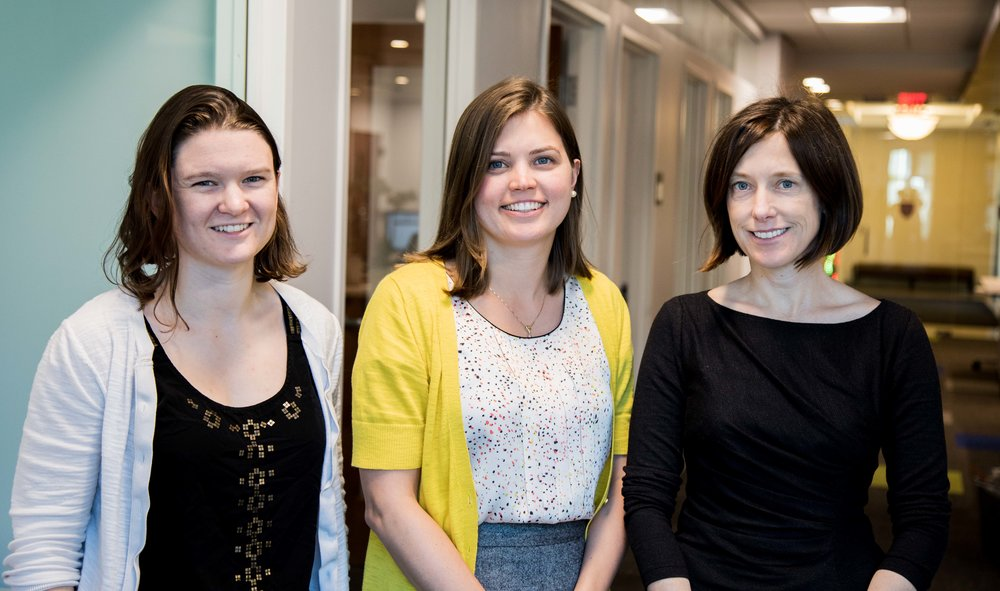 Bok Center's Educational Research & Assessment Team: Courtney Hall, Lauren Nicoll, Jenny Bergeron