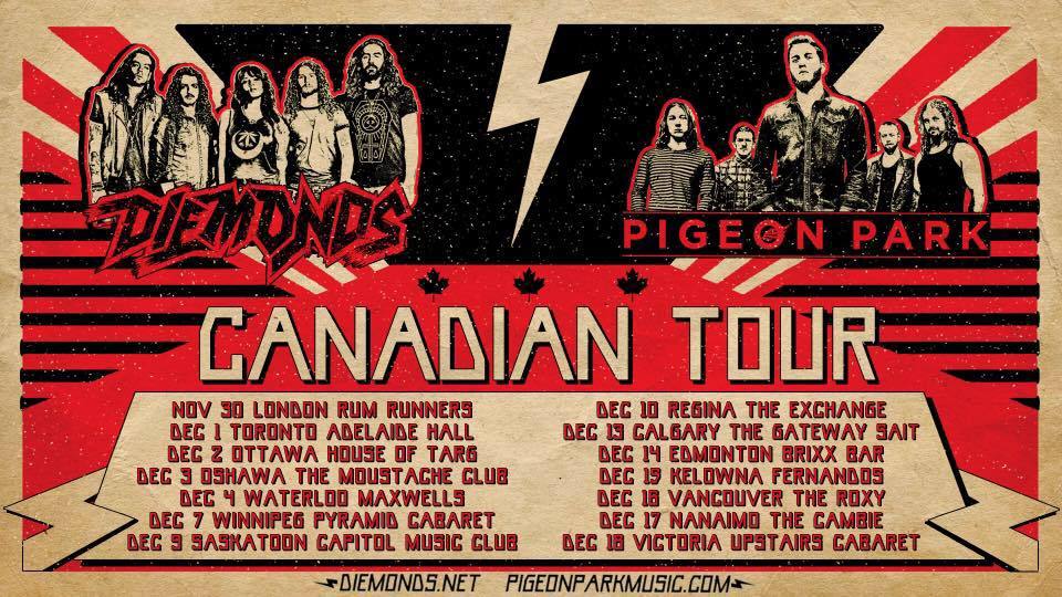 Diemonds + Pigeon Park Tour Poster