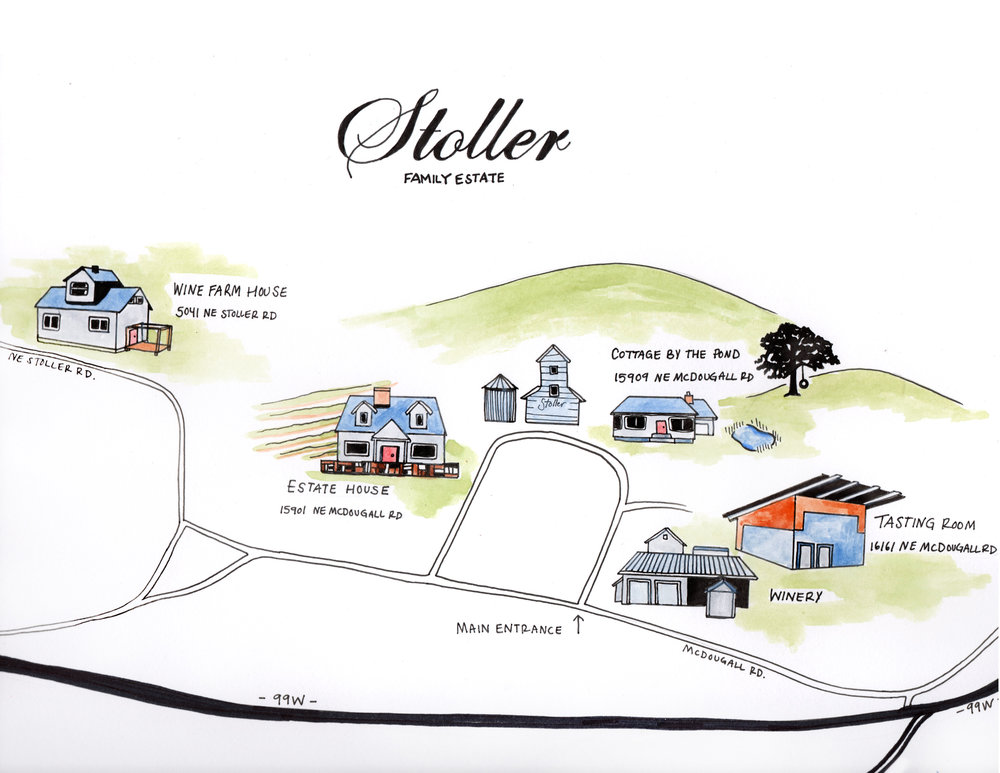 Vineyard map for Stoller Family Estate