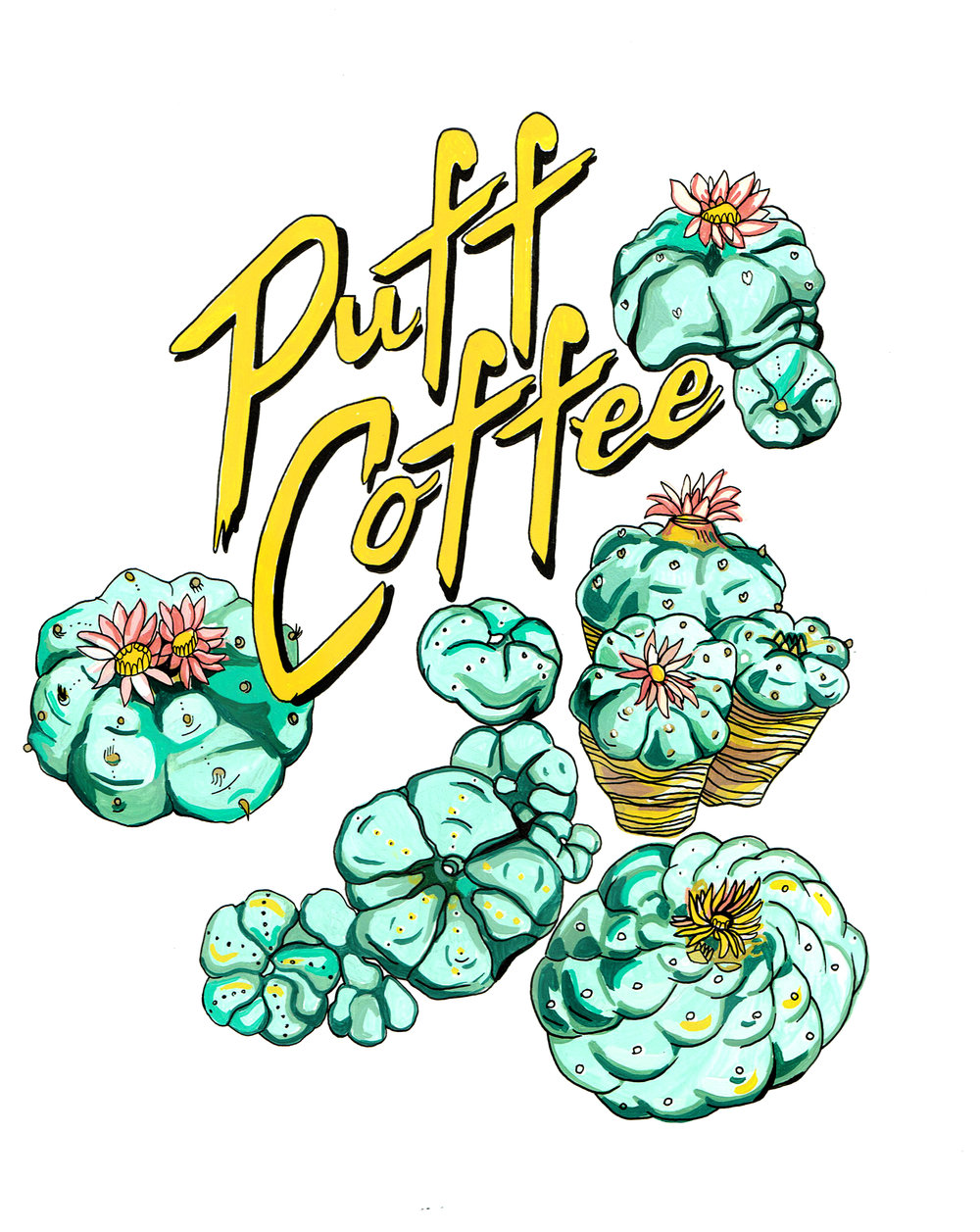 T-shirt design for Puff Coffee