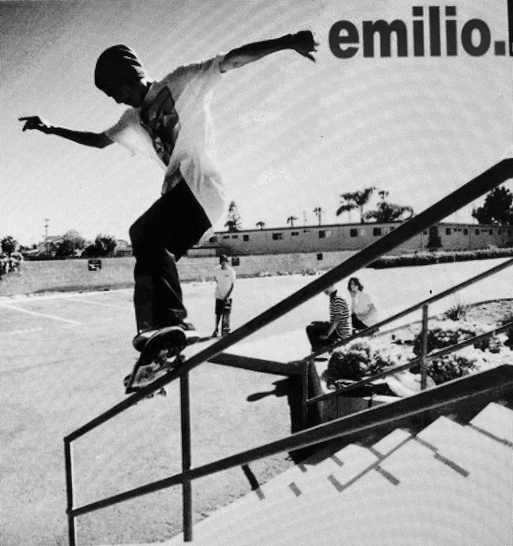 "Emilio C. throw back pic. ""thanks for skating with us"" KEITA"