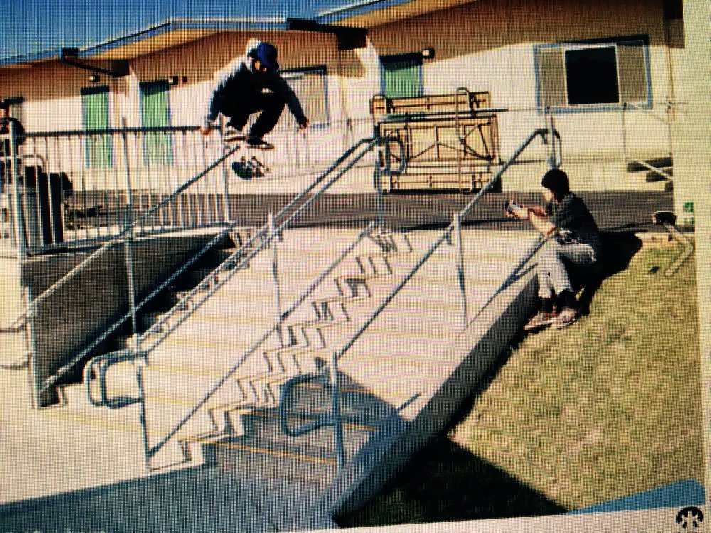 Emilio on deck.Thomas on cam. throw back pic. New footy in the works