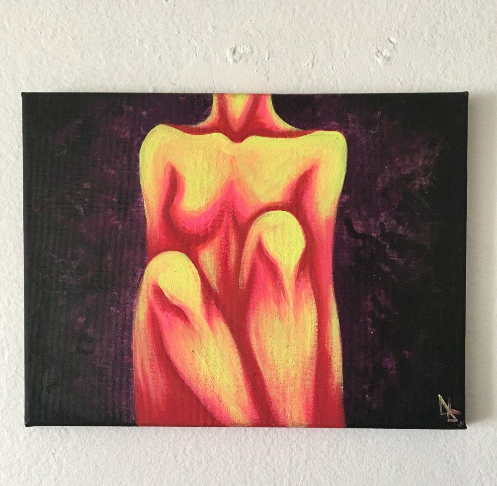 Contributing artist from Oceanside, Ca. KEITA ambassador Bruna K. piece from 10/30/16 event.
