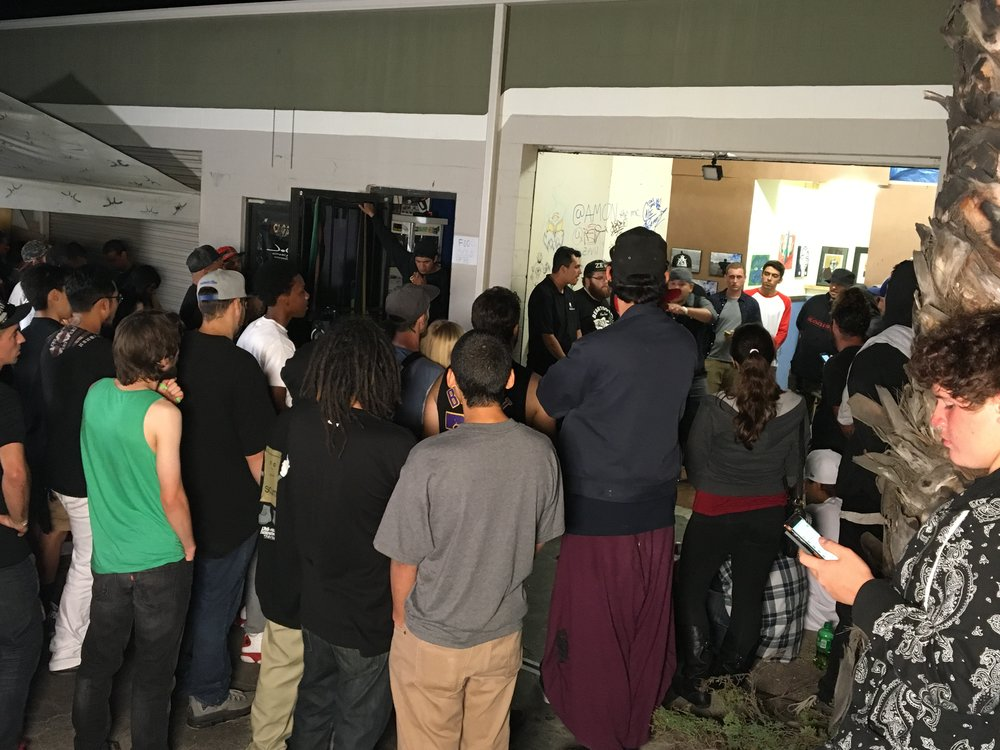 Shots Fired Rap Battles at one of the art shows.  Rappers came from Oakland, Riverside, San Diego, Los Angeles and more. The ladies joined the party also. Shout out Schoolyard Records on Wisconsin in Oceanside California... @shotsfiredrap       DJ SETR ///     CHUCKLOUDRY   ///   ART SHOW 3