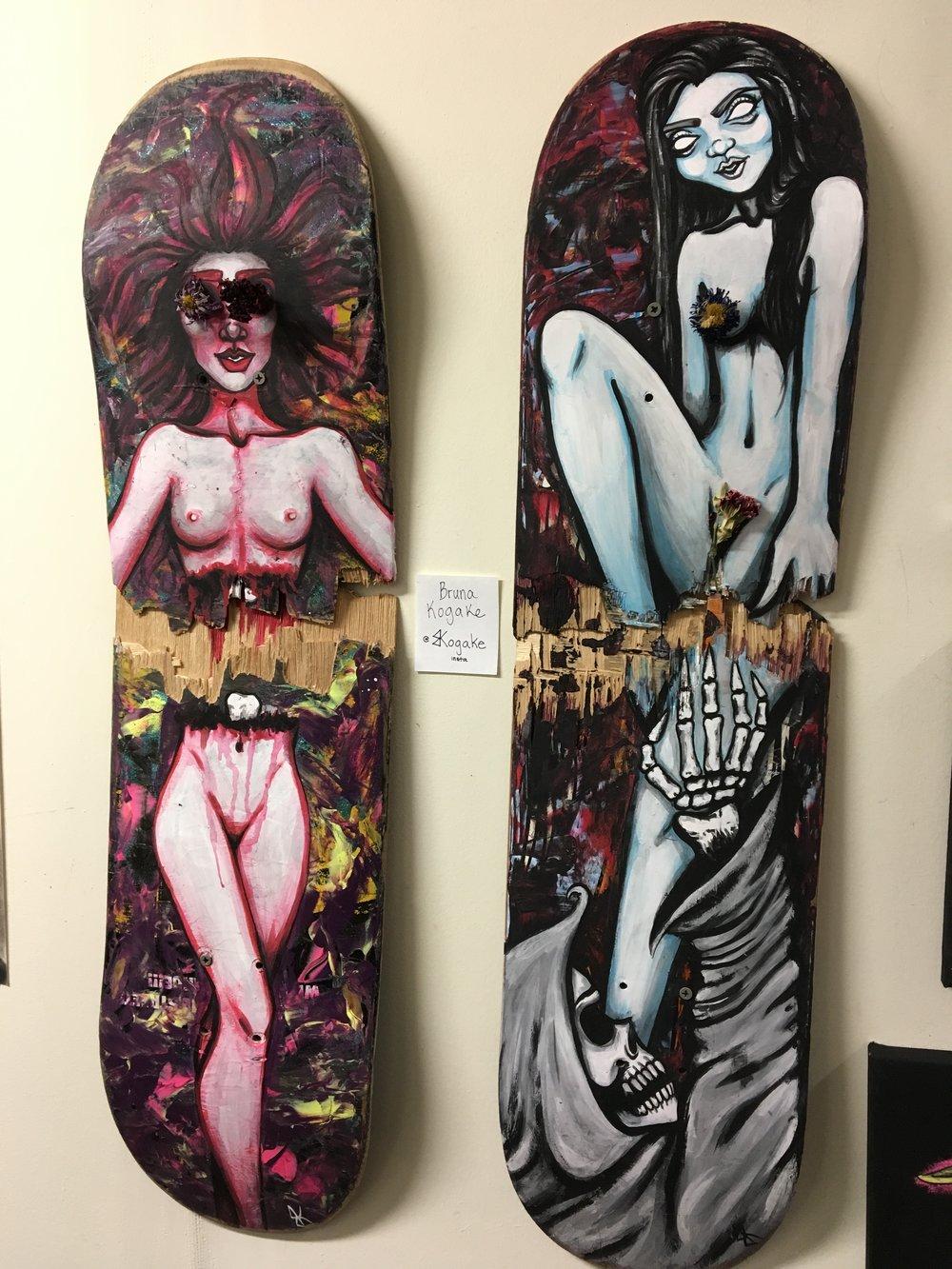Ambassador & Artist @bkogake had pieces that blew every ones minds.