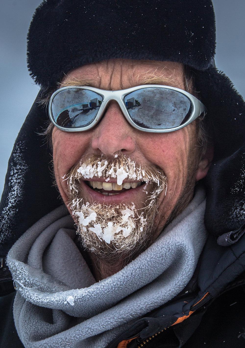 Antarctic portrait of team member