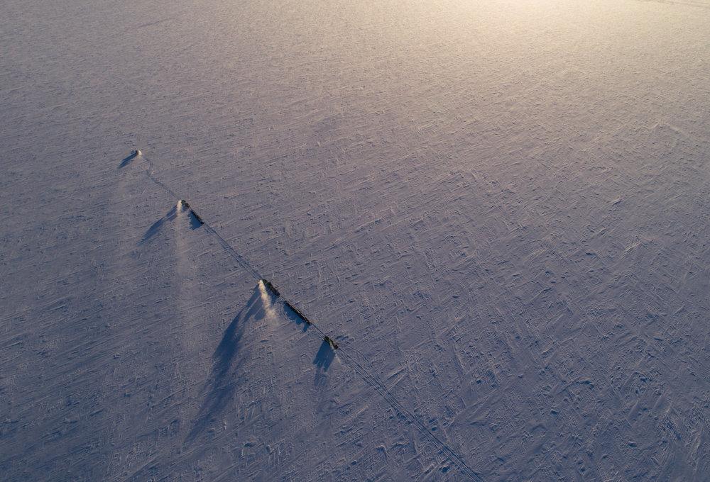 Convoy on the ice shelf