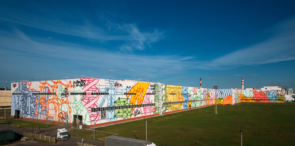 worlds largest mural of one artist 10 000 sq.m.