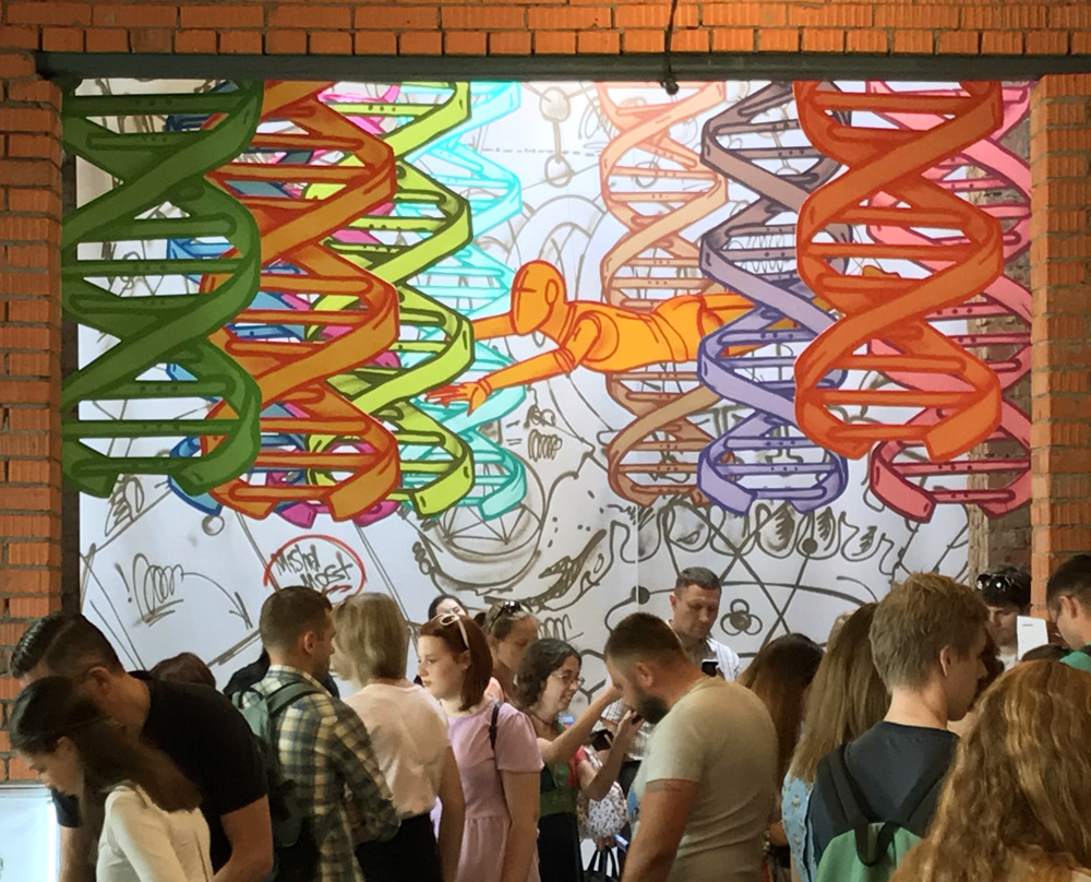 installation at MakerFair Moscow '18