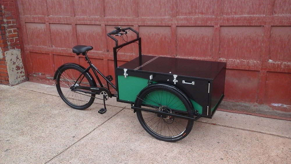 A cargo bike for dogs