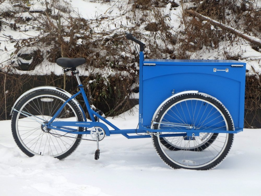 All blue standard cargo trike