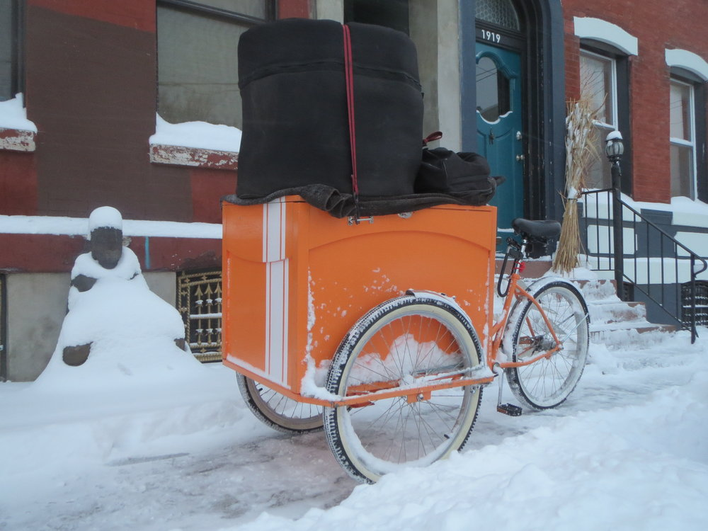 A cargo tricycle for drums