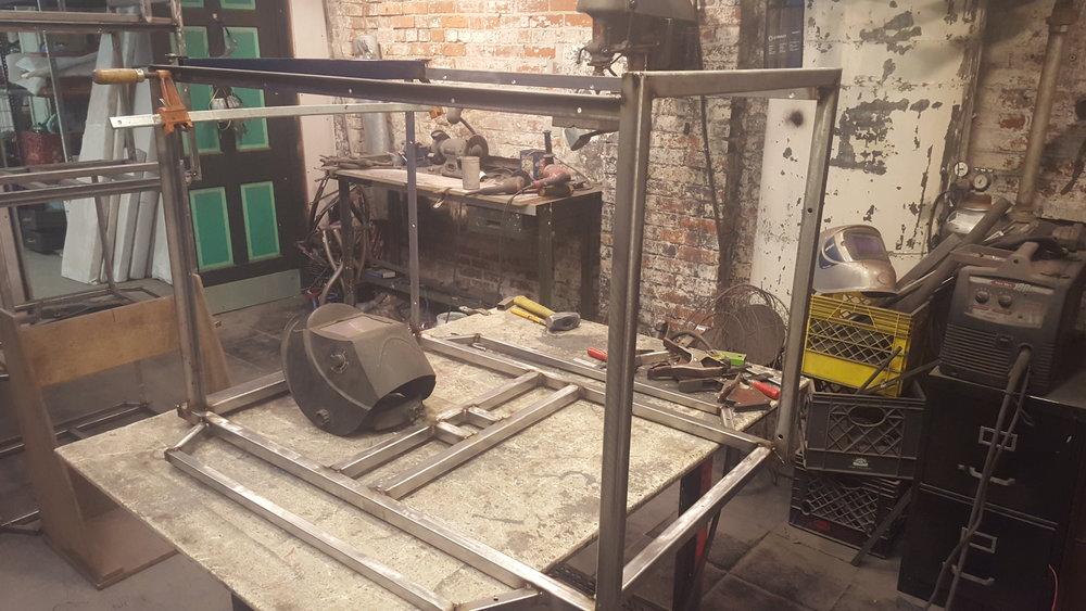 Cargo trike under construction