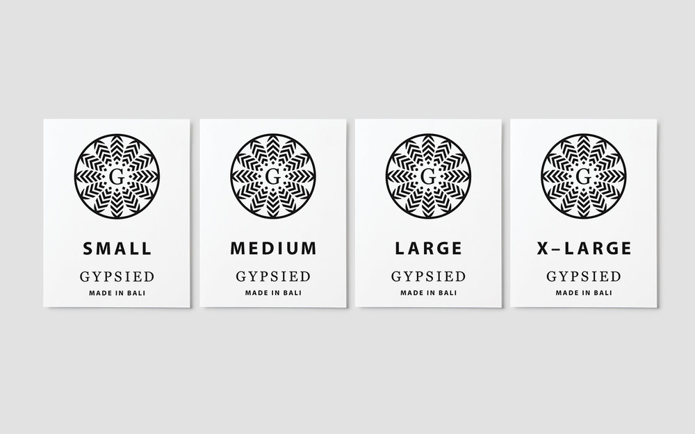 Clothing labels for the Gypsied Dress