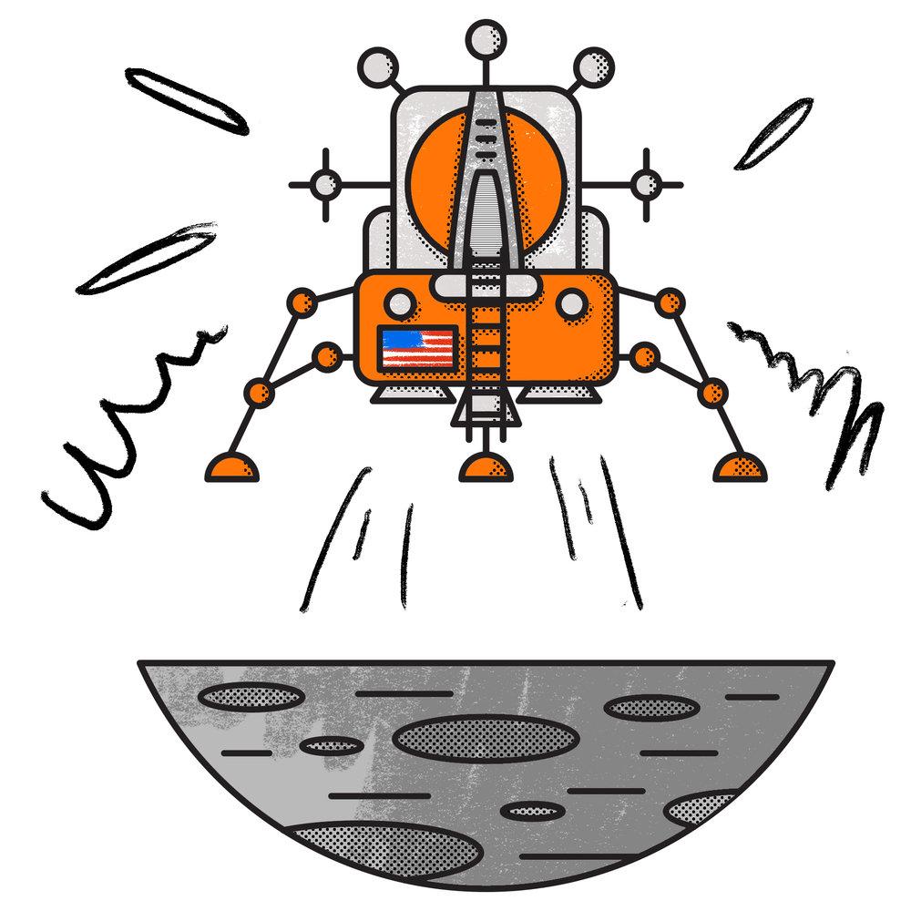 L for Lunar Module Eagle