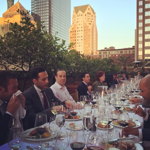 Wine Dinners with the backdrop of DTLA