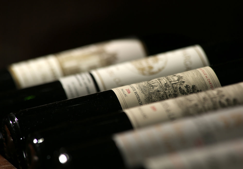 Old and rare wines for truly special occasions.