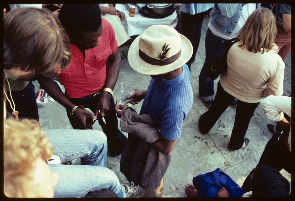 Deal or no deal? Street photography (see post below) is also good in colour. Sadly, there's no more Kodachrome 25 (or any Kodak tranny film for that matter!) like there was here. This is from the Notting Hill Carnival in 1980. Couldn't you tell?