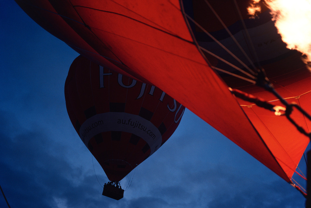 Too much hot air - time for a photograph in living kodachrome (RIP).