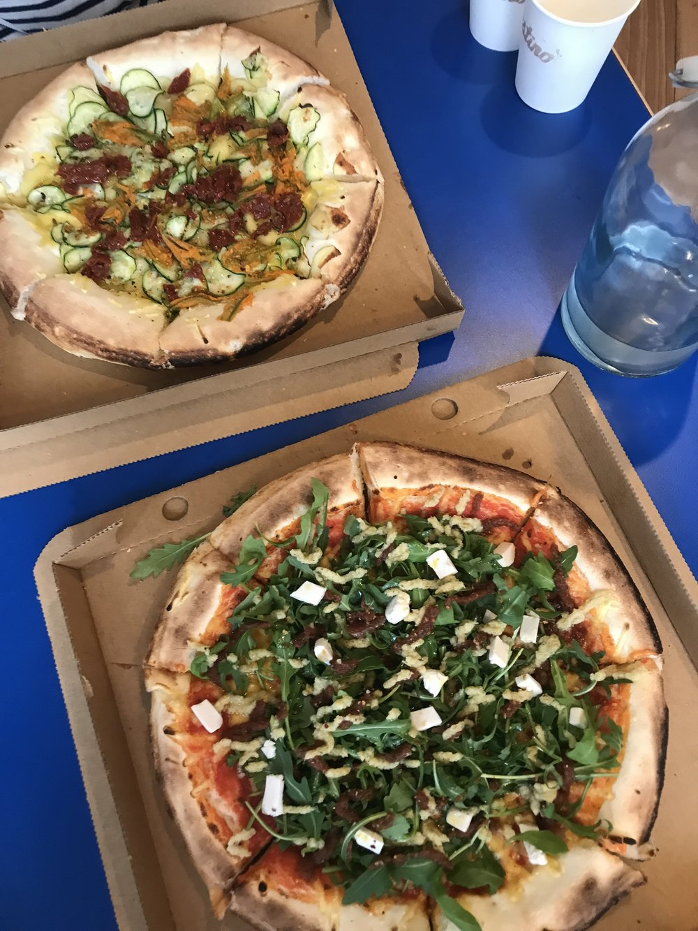(L) New Vegan Pizza (R) can't find the name online but will keep looking