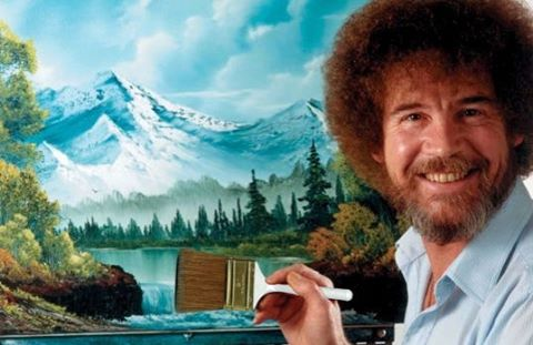Bob Ross inspired us. Now we paint. Come to The JOY of Painting tonight from 7-9 in Larita's! Paint your own canvas for $5, drink coffee, learn about the kids we sponsor in the DR, and take a turn at the Spotlight Easel where you can showcase your art just like Bob Ross. #tayloru #spreadjoynow
