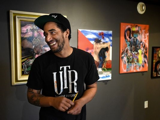 "Joe C. Rock at Sierra Arts for ""The Streets IZ watching"" Photo - Andy Barron/RGJ"